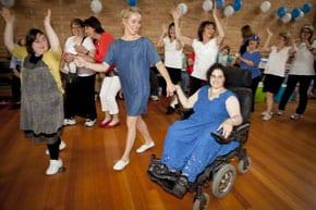 Participants enjoyed the Israeli Dancing