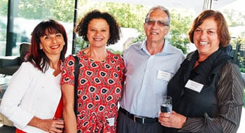 Susie Ivany, Jewish Care Board Member, Frances Prince and Eric Kraus, mentors and Vivien Brass, co-founder.