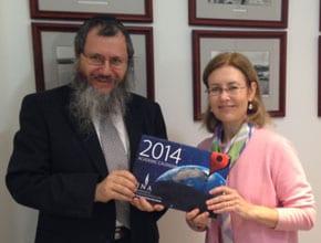 Rabbi Michoel Gourarie and Gabrielle Upton