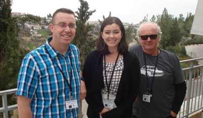 Chris Harris, Onehunga College (Auckland), Anna Chapman Holocaust Centre of NZ (Wellington) and Mike Brady, Porirua College (wellington)