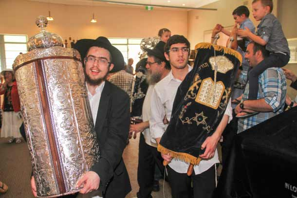 Celebrating the new torah    Pic: Ben Apfelbaum/J-Wire