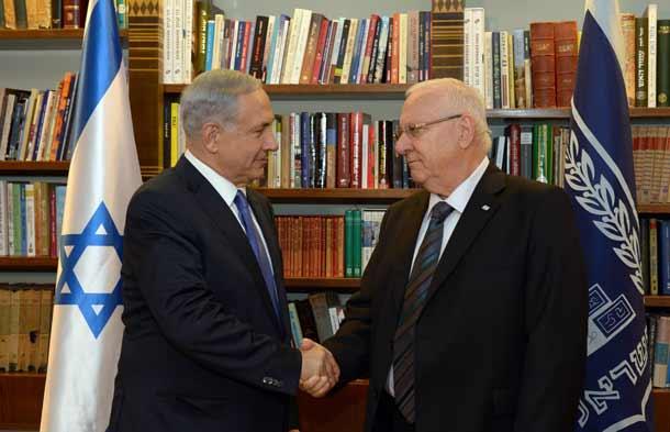 Prime Minister Benjamin Netanyau and President Reuven Rivlin    Photo Haim Zach