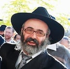 Rabbi Sholom Mendle Kluwgant, Leon Schnall and Rabbi Meir Shlomo Kluwgant