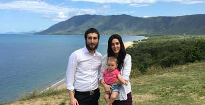 Reabbi Ari, Mushkie and Devorah Rubin