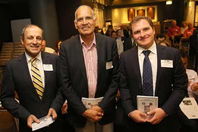 Vic Alhadeff, Professor Nihal Agar and Jeremy Spinak