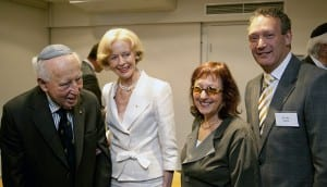 Sir Zelman, G-G Quentin Bryce, Helen Light and John Searle