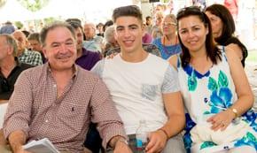 New board member Alex Abalufia with son Daniel and wife Natasha