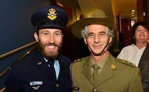 ADF Jewish chaplains Rabbi Yossi Friedman and Rabbi Jeffrey Kamins       Photo: Henry Benjamin/J-Wire