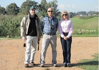 L-R: Gadi Haber, Dr. Avi Gafni & Dr. Elizabeth Finkel. Photo: Gabi Bron