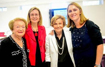 Lina Lipton, Gabrielle Upton, Lotte Vidor and Michelle Fischl Photo: Henry Benjamin