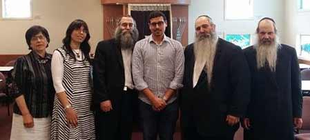 Rebbetzin Miriam Telsner, Rebbetzin Yurkevich, Rabbi Mendy Groner, Manny Waks, Rabbi Chaim Zvi Groner, Rabbi Yosse Groner