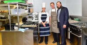 Chef Alice Bosco, pastry chef Marc Ruzerel with Rabbia Aaron Groner