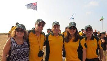 L-R: Sam and Ruth Parasol, Tom Goldman, Lisa Borowick and Harry Procel Photo: Yoav Devir