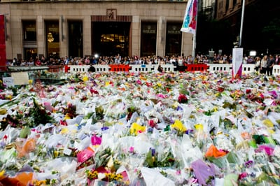 Scene of the Sydney's Martin Place siege                Photo: Henry Benjamin