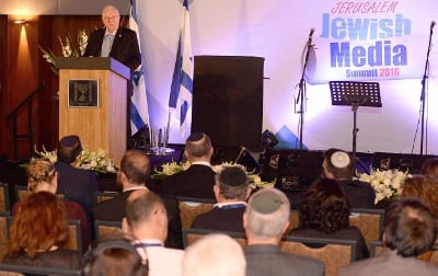 President Reuven Rivlin addresses Jewish media