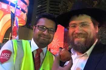 Security enjoys a Chanukah gift