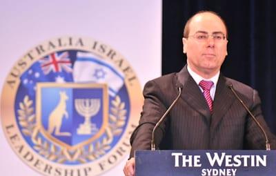 Vice Prime Minister of Israel Silva Shalom          pic: Henry Benjamin