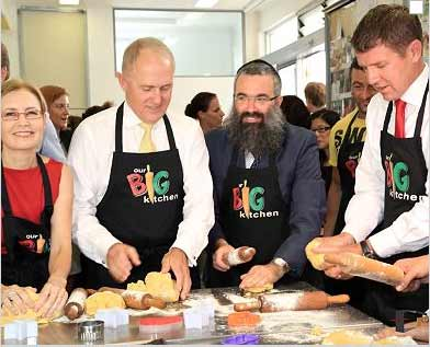 Gabrielle Upton, Malcolm Turnbull, Rabbi Dovid Slavin and Mike Baird