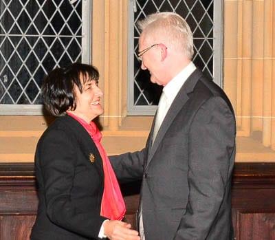 Emeritus Professor Suzanne Rutland and John Garten