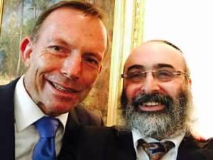 Prime Minister Tony Abbott with Rabbi Meir Shlomo Kluwgant
