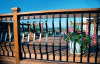 Wood Deck Railing | Wood Railings | Outdoor Railings ...