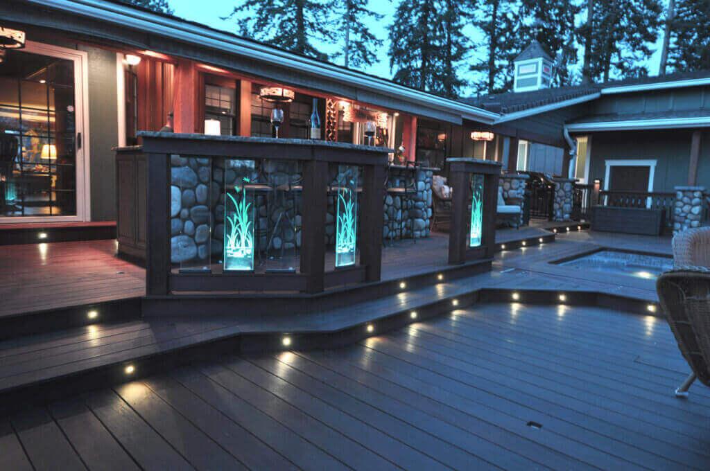 deck lighting outdoor deck lighting
