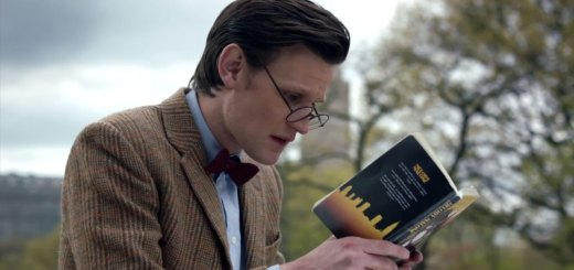 Doctor Who Reading a book