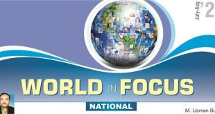 World in Focus (JUL-AUG 2021) National & International With MCQs