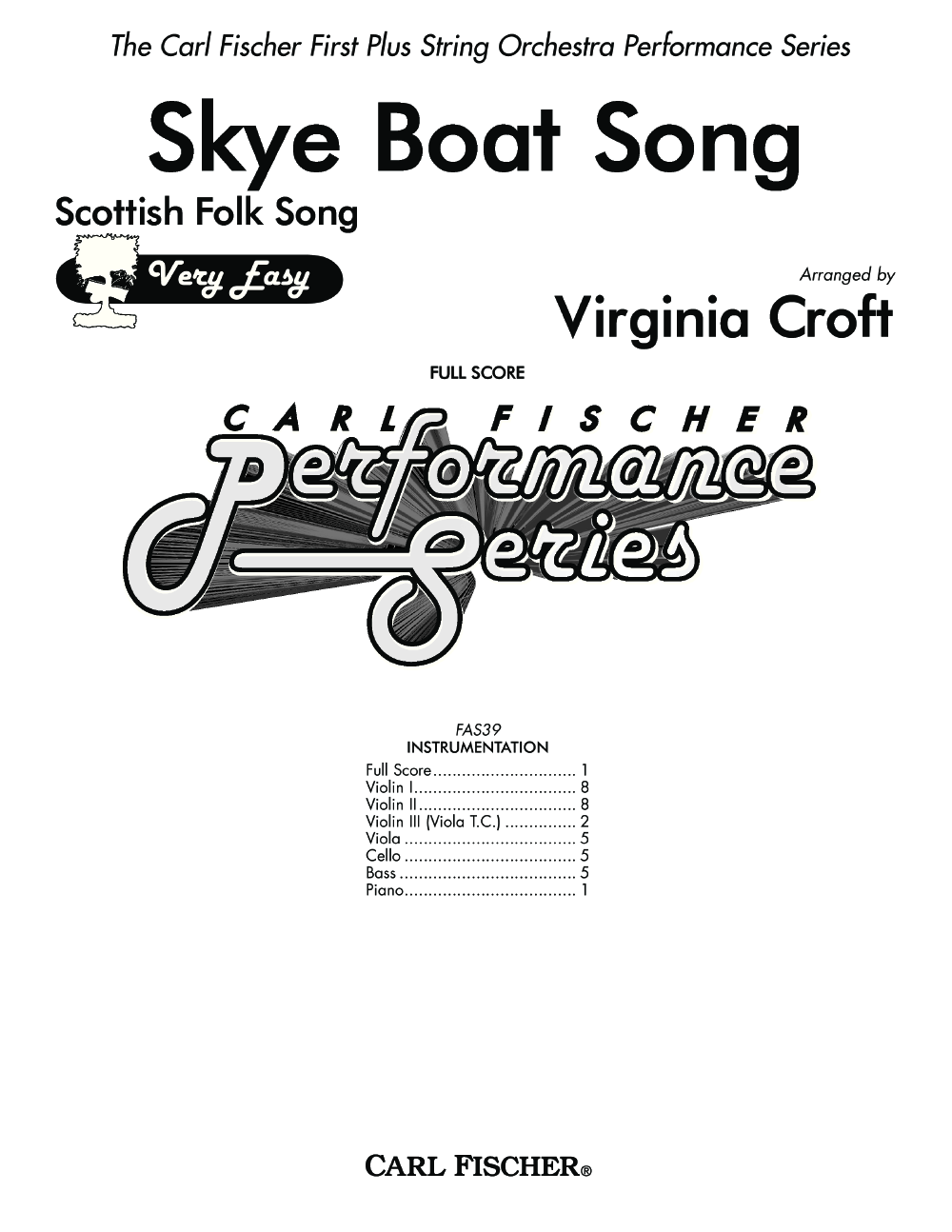 Skye Boat Song arr. Virginia Croft| J.W. Pepper Sheet Music