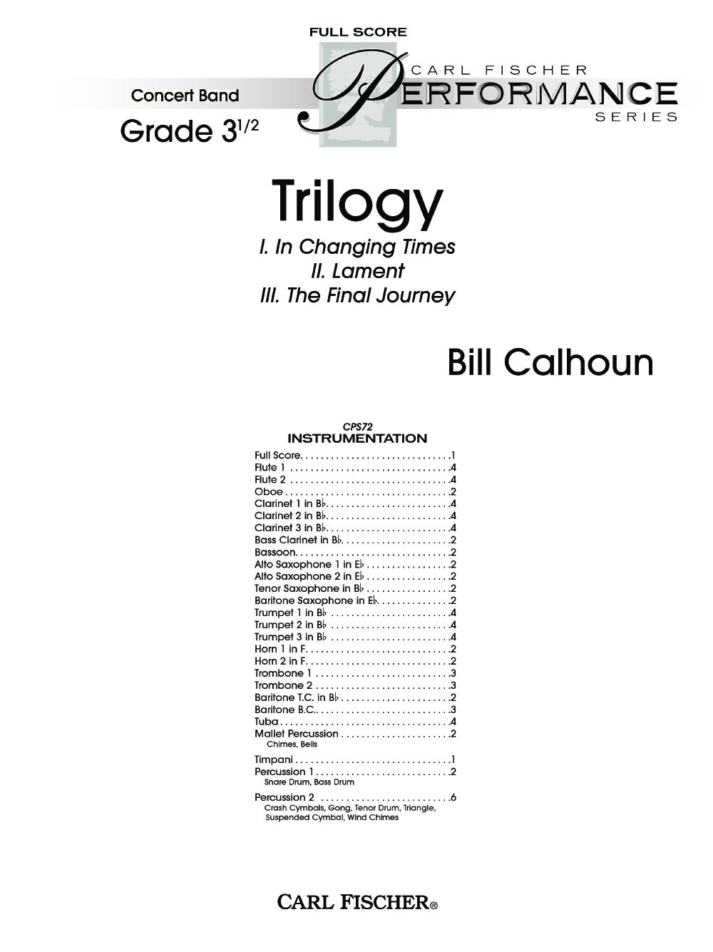 Trilogy by Bill Calhoun  J.W. Pepper Sheet Music