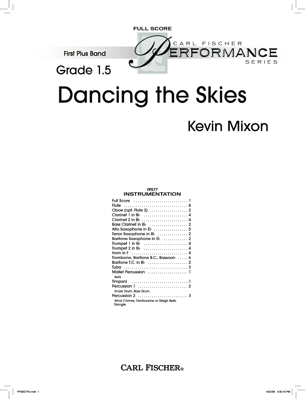 Dancing the Skies by Kevin Mixon  J.W. Pepper Sheet Music
