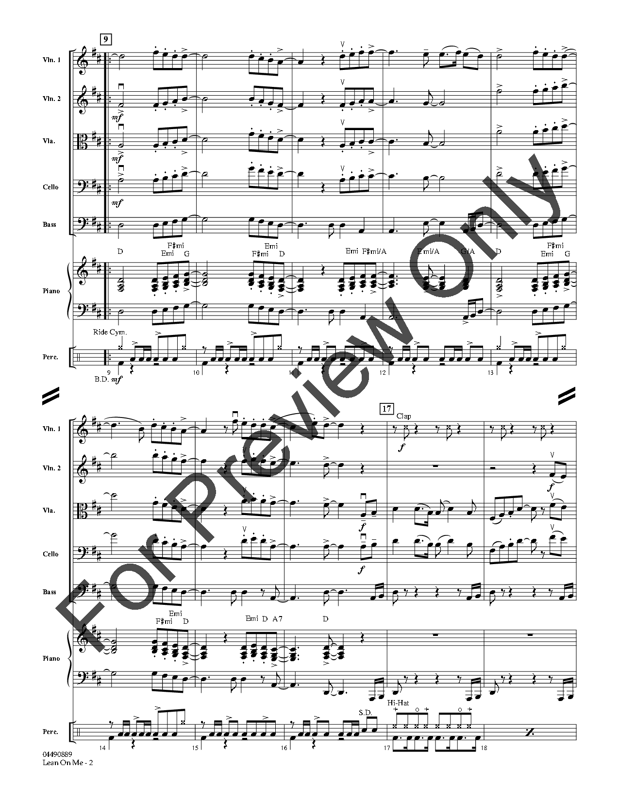 Lean on Me arr. Larry Moore| J.W. Pepper Sheet Music