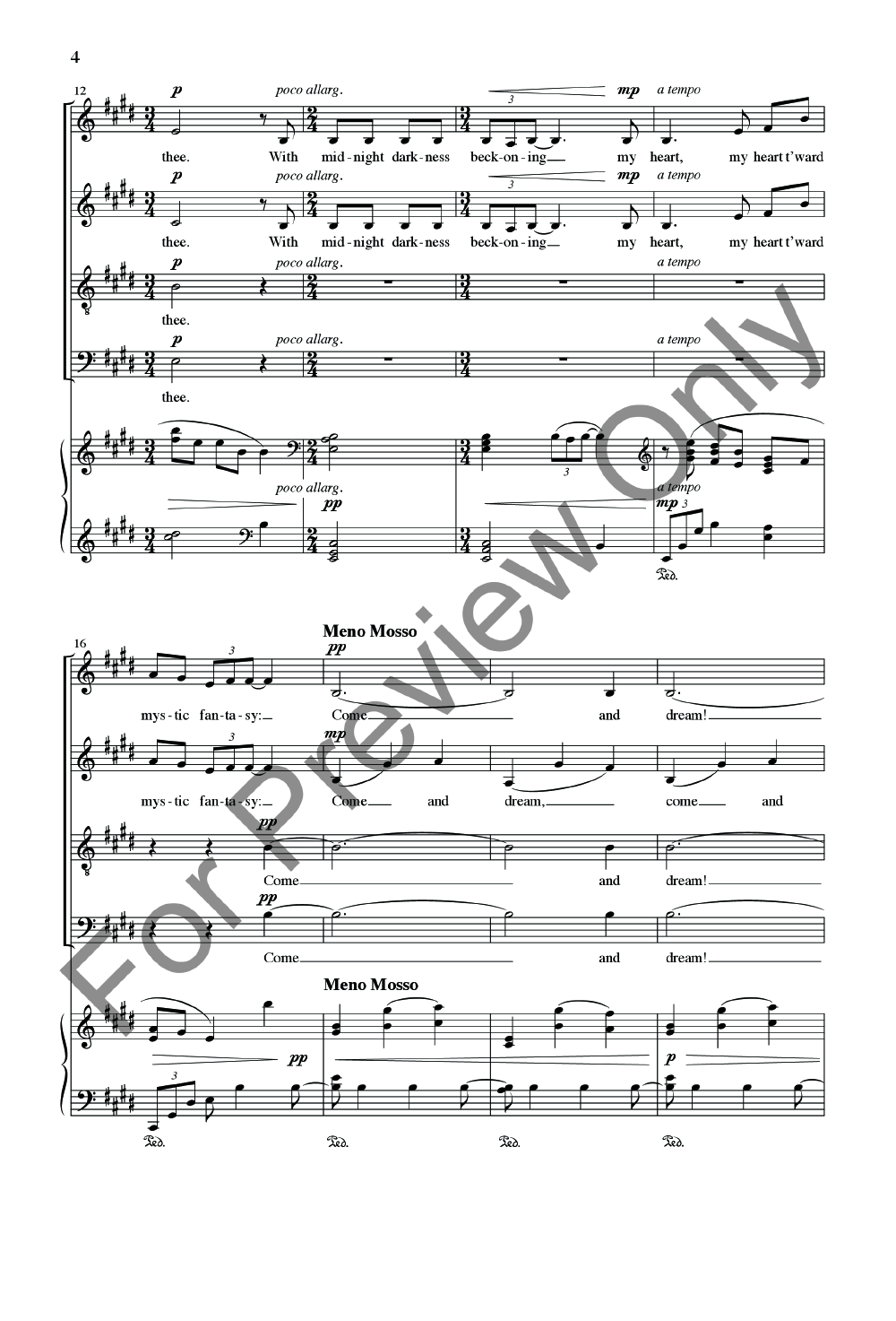 Ballade to the Moon (SATB ) by Daniel Elder| J.W. Pepper