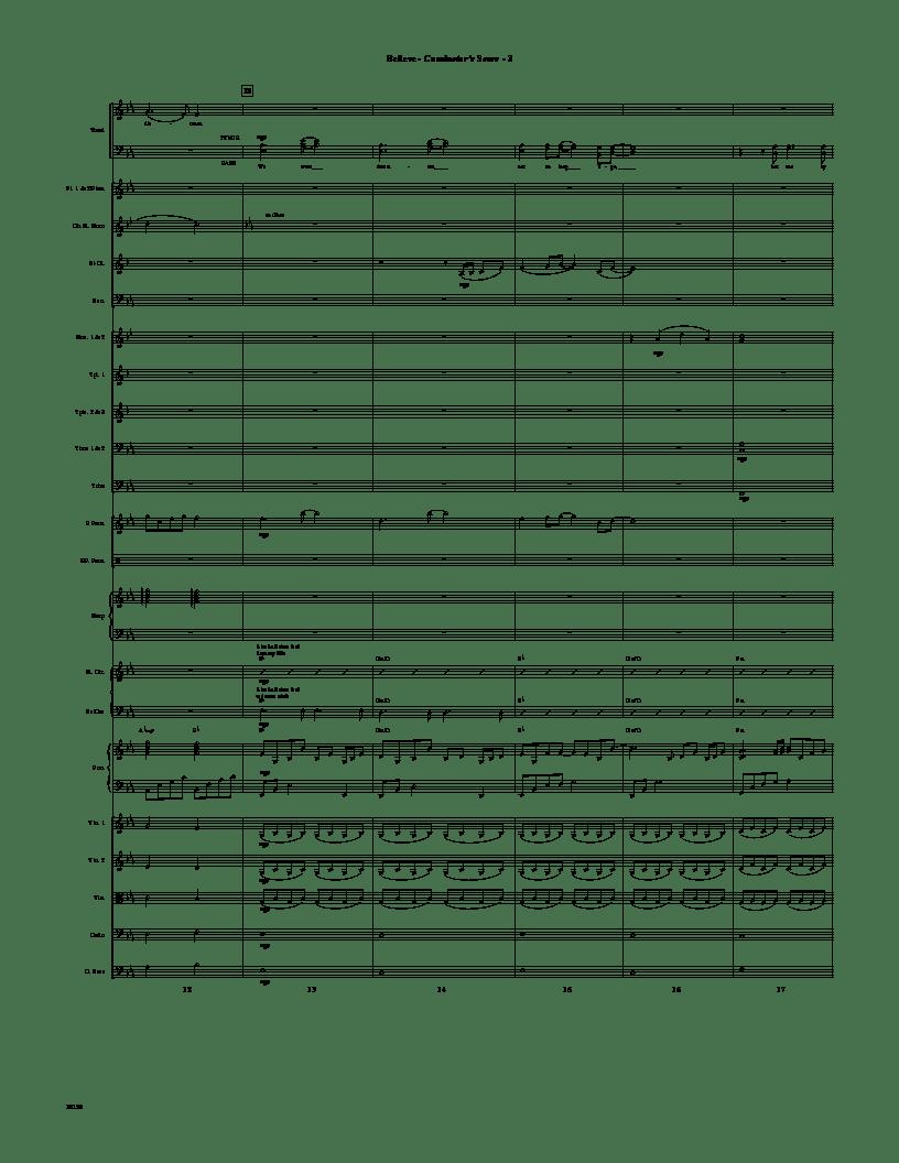 Believe (Instrumental Parts ) arr. Mark Hayes| J.W. Pepper