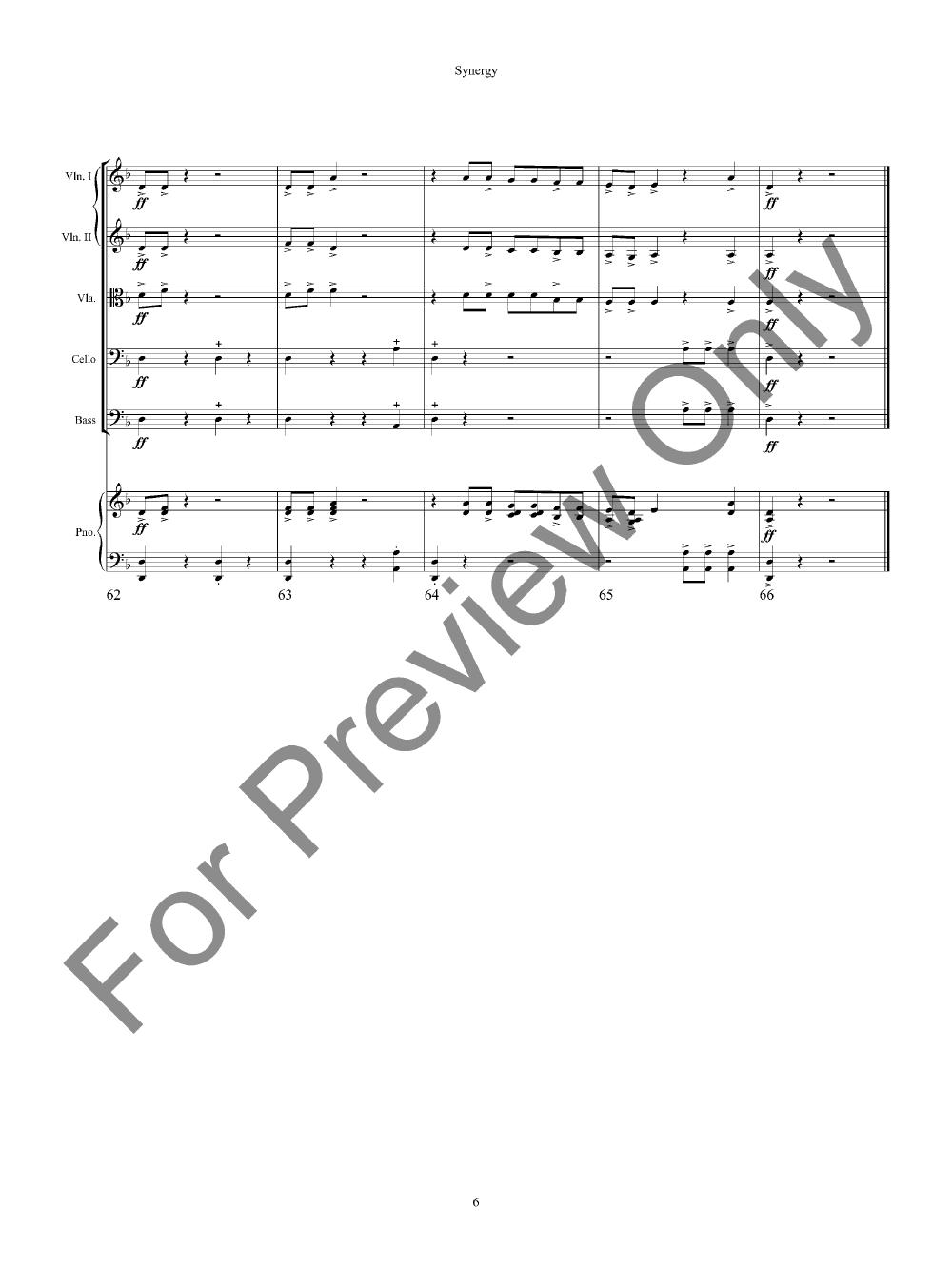 Synergy by Ben Snoek  J.W. Pepper Sheet Music