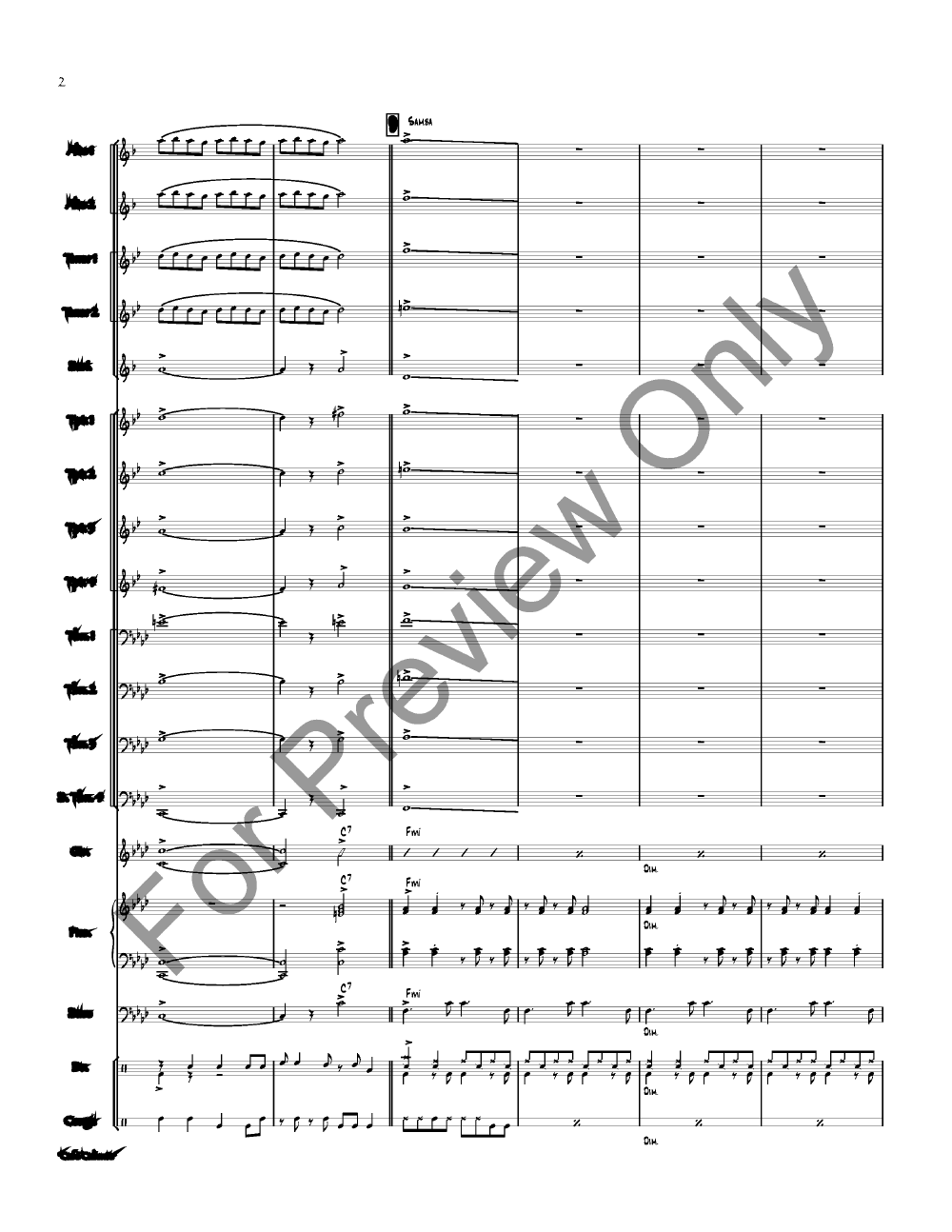 Cafe Caliente by Rich Woolworth| J.W. Pepper Sheet Music
