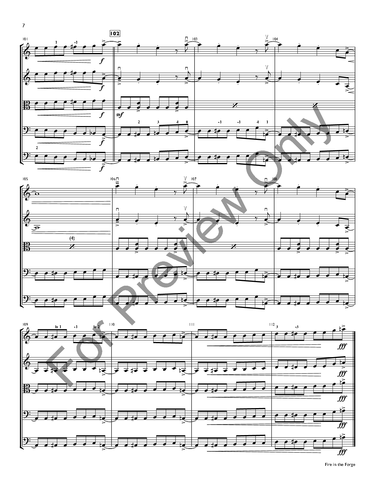 Fire in the Forge by Ted Allen| J.W. Pepper Sheet Music