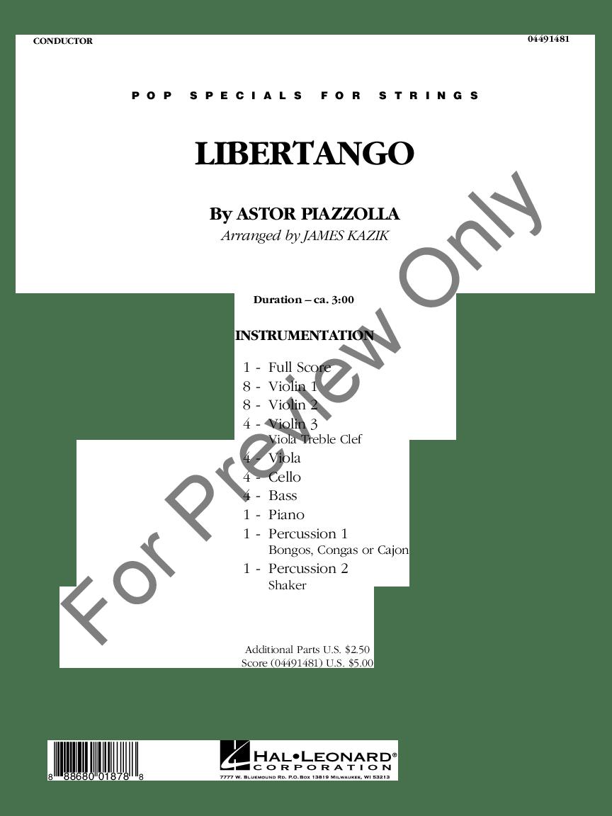Libertango by Astor Piazzolla/arr. James Kazik  J.W