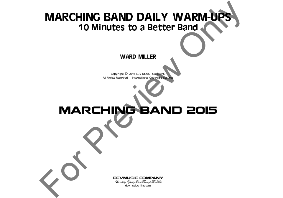Marching Band Warmups by Ward Miller| J.W. Pepper Sheet Music