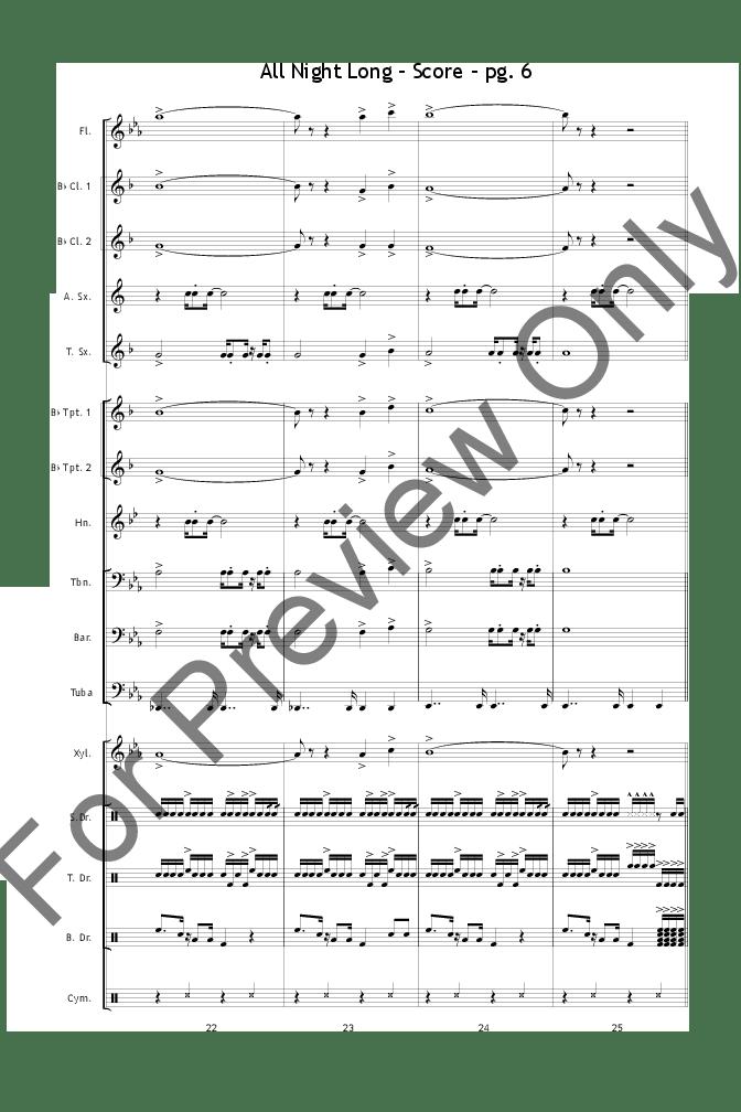 All Night Long arr. Dallas Burke| J.W. Pepper Sheet Music