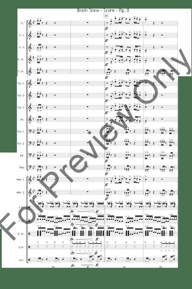 Brain Stew arr. Dave Henning  J.W. Pepper Sheet Music