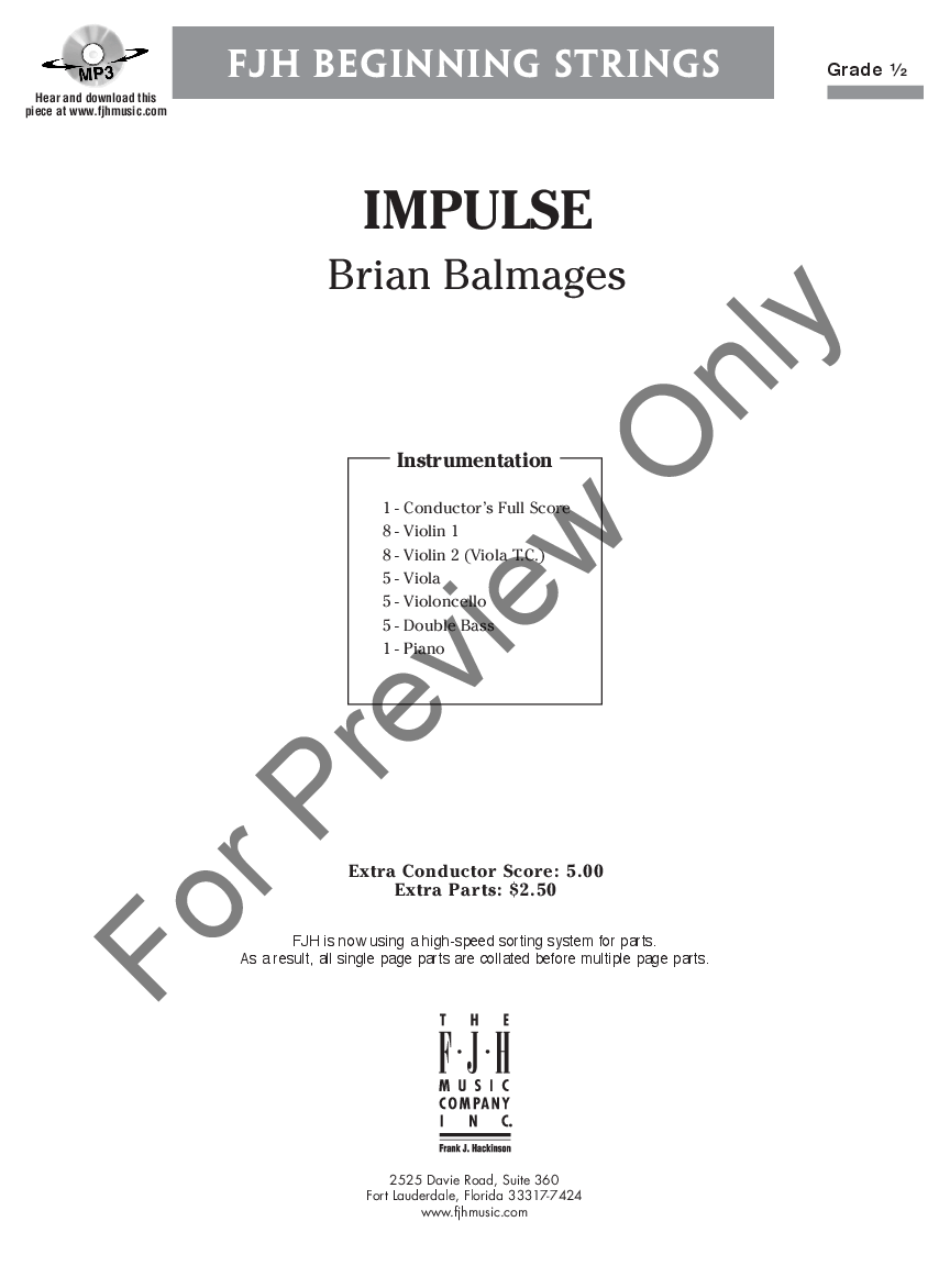 Impulse by Brian Balmages| J.W. Pepper Sheet Music