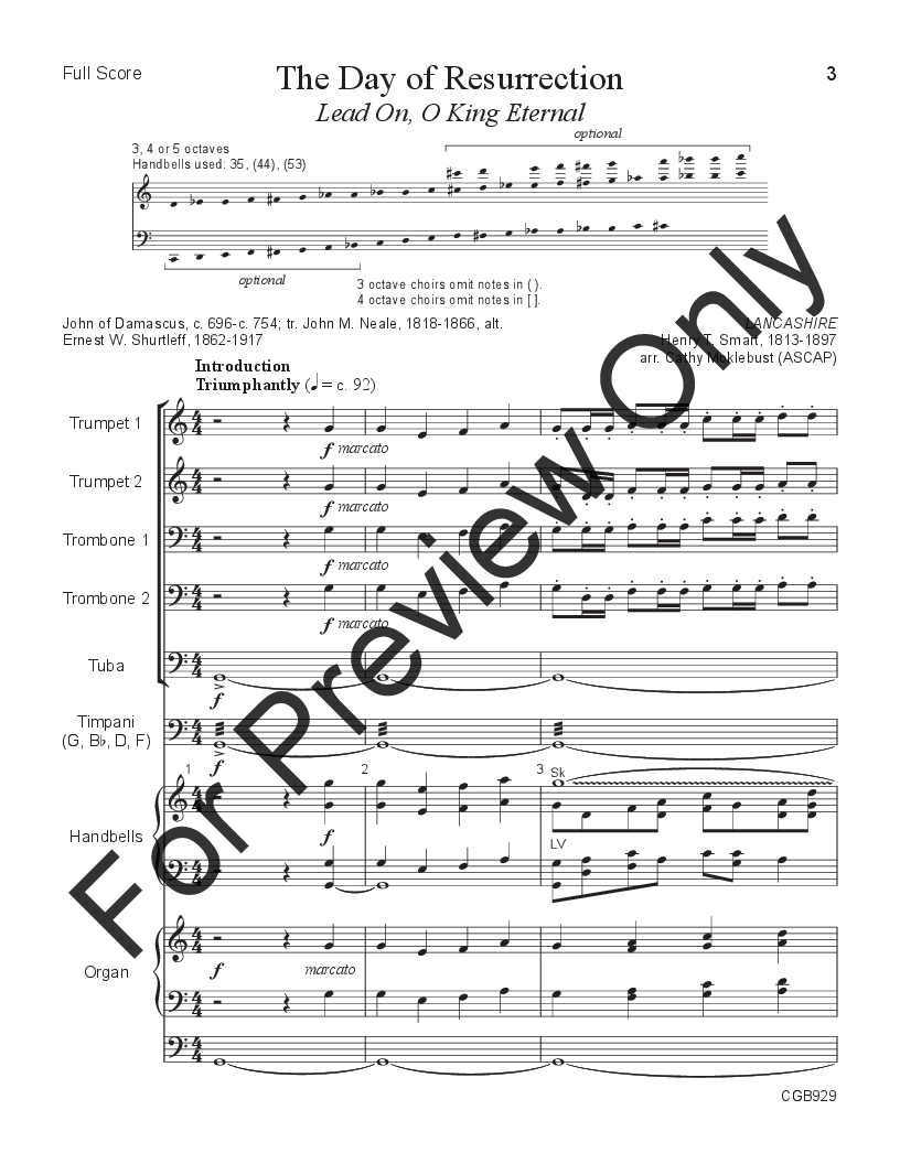 The Day of Resurrection arr. Cathy Moklebust| J.W. Pepper