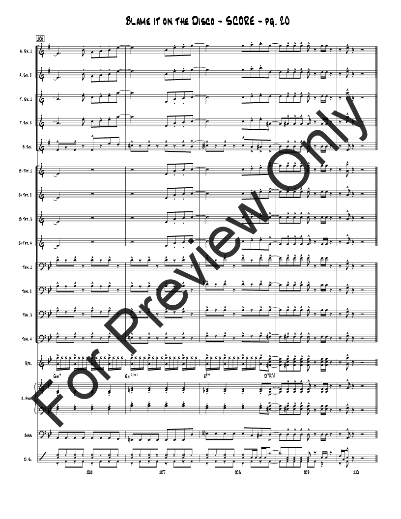 Blame It on the Disco by Tim Fisher| J.W. Pepper Sheet Music