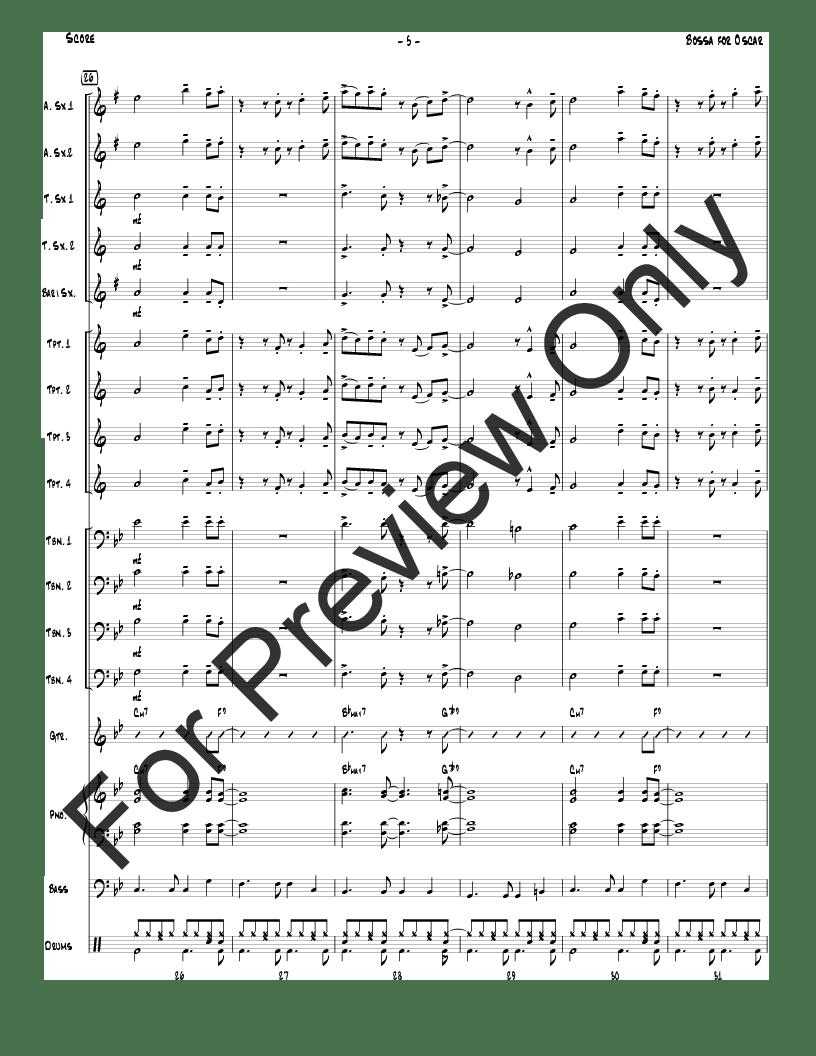 Bossa for Oscar by Terry White  J.W. Pepper Sheet Music