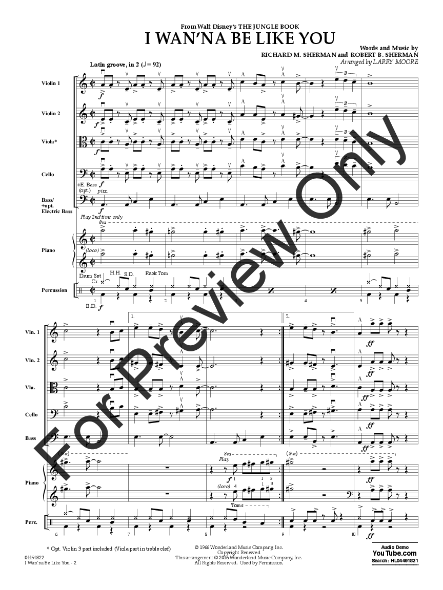 I Wan'na Be Like You arr. Larry Moore| J.W. Pepper Sheet Music