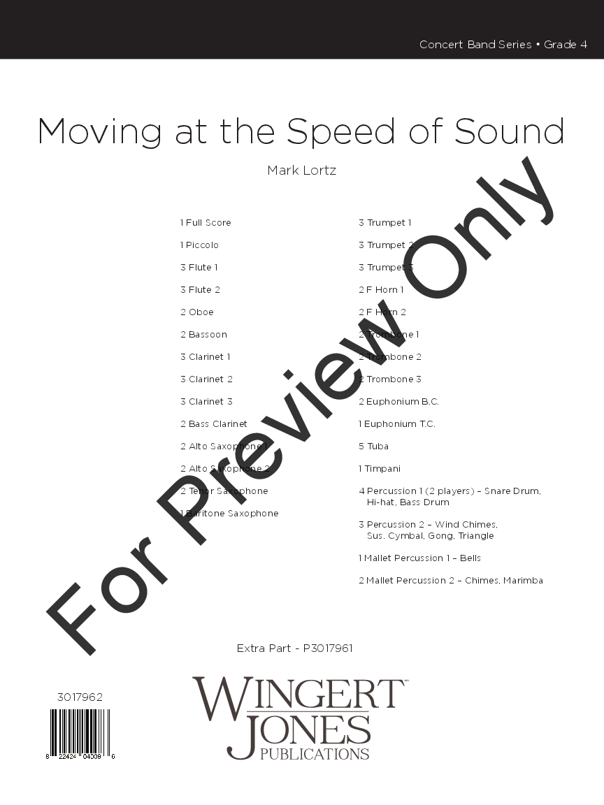 Moving at the Speed of Sound by Mark Lortz| J.W. Pepper