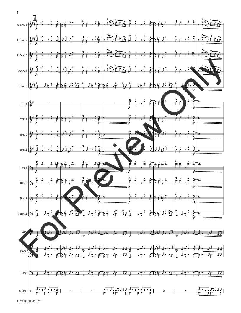 Fly-Over Country by Rich Woolworth| J.W. Pepper Sheet Music