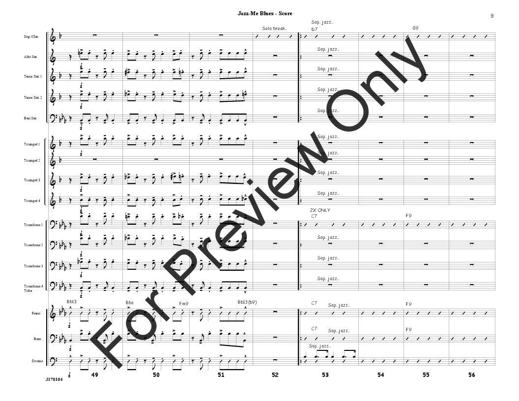 Jazz Me Blues arr. Jim Mahaffey| J.W. Pepper Sheet Music