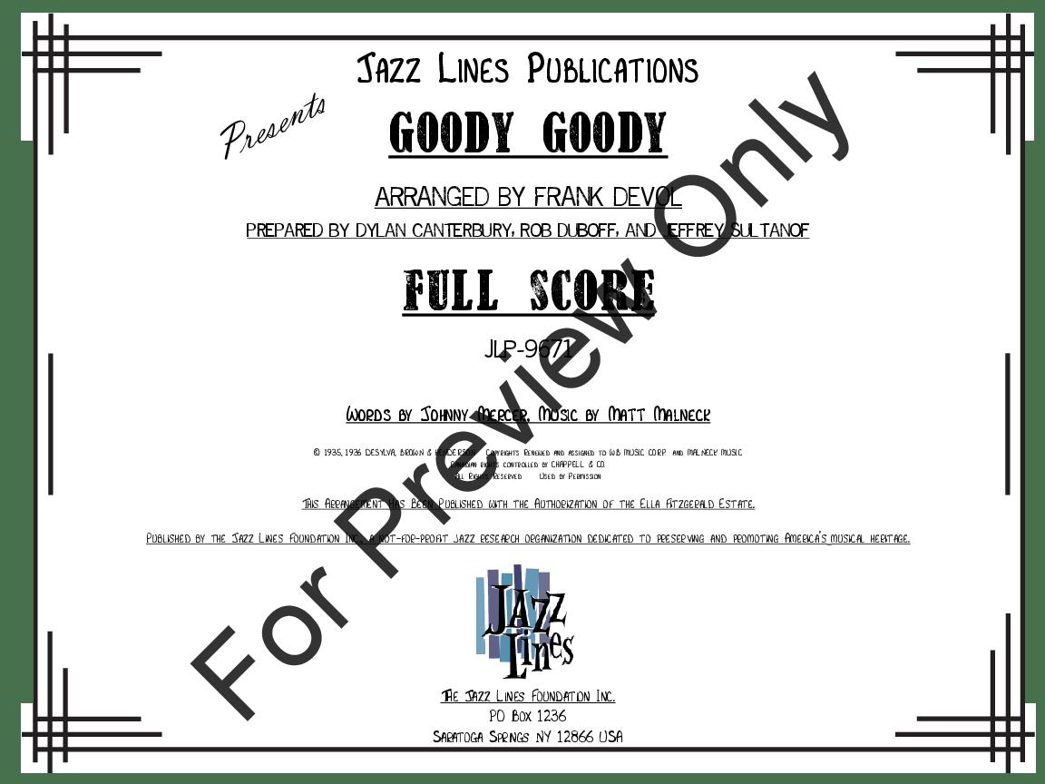 Goody, Goody arr. Frank DeVol| J.W. Pepper Sheet Music